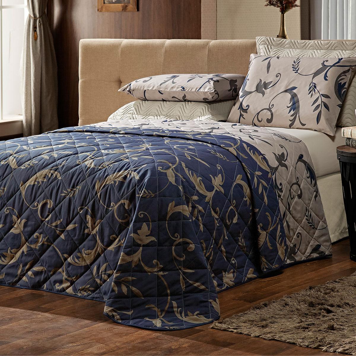 Coleção Esmeralda Arabesco Azul