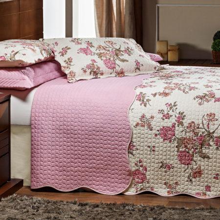 Coleção Juma Percal Rosas Rosê